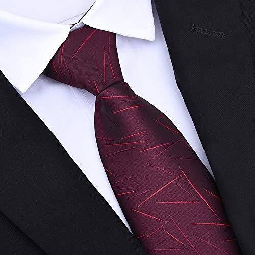Punkt-kragen-gestreifte Krawatte (SHIJING Krawatten 8cm Klassische Herren Business Formal Hochzeit Krawatte 8cm Gestreifte Krawatte Mode Hemd Kleid Accessoires)