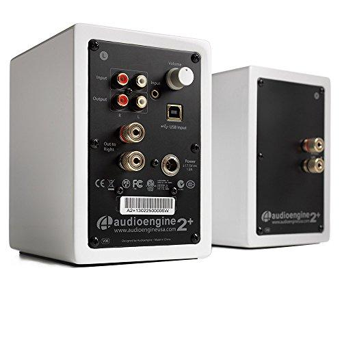 Audioengine A2+W Powered Desktop Speakers (Pair) in Gloss White