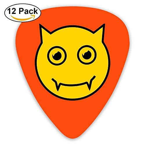 Celluloid Guitar Picks Acoustic Guitar Plectrums,Print Vampire Smiley Face For Halloween,12 Pack