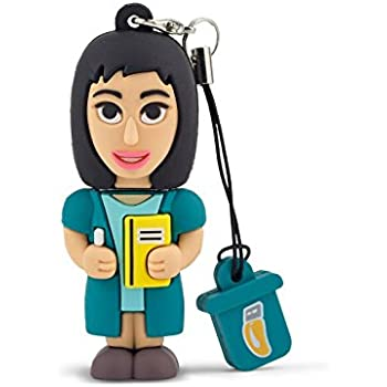 Professional Usb Insegnante Donna, Simpatiche Chiavette USB Flash Drive 2.0 Memory Stick Archiviazione Dati, Portachiavi, Pendrive 8 GB