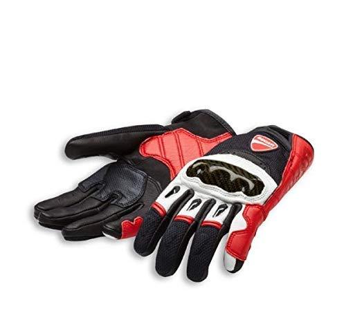 Ducati Handschuhe Company C1 aus Leder und Stoff rot/weiß/schwarz Größe M -