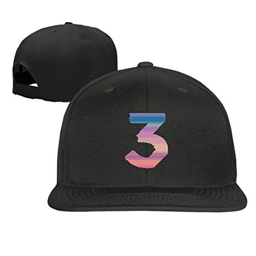 Hittings Baseball cap hip hop hat Chance The Rapper Number 3 hat Black (5 colors) (Rapper Hat)