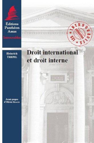 Droit international et droit interne
