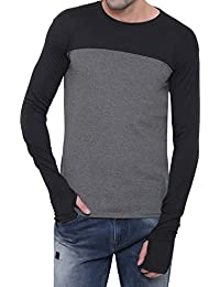 Scatchite Mens Fullsleeve Round Neck Thumb Cotton Tshirt (Sleeves Till Palm)