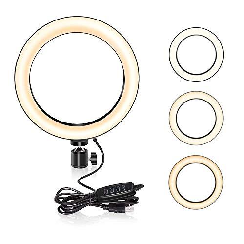 41b59128f Ruitx Luz de Anillo LED, UBeesize Dimmable Mini Anillo de luz para Videos de  Youtube