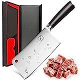 imarku Hackmesser Chinesisches Kochmesser 6 Zoll Metzgermesser Scharf Chinesisch Hackbeil Messer mit Holz Pakkawood Griff für Knochen