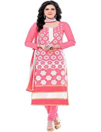 Jheenu Women's Gajri Glass Cotton Unstitched Dress Materials