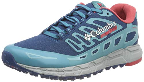 Columbia Scarpe da Trail Running da Donna, Bajada III Winter, Blu (Phoenix Blue, Sunset Red), Taglia: 39