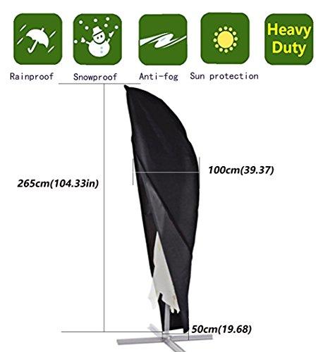 Anderlay copertura ombrellone impermeabile fodera protettiva per ombrellone oxford poliestere 265 x100 x50cm