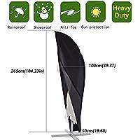 Anderlay Funda Protectora de Sombrilla Inclinable Lateral Cubre Cubierta de Parasol Excéntrico Impermeable contra Rayos UV y Lluvia Jardín 265 x100 x50CM
