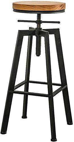 WWWWW-DENG Barhocker Theke Höhe Barhocker, Swivel Einstellbare Bar Stuhl, Round Top, Pub Bistro Küche Speise Side Chair, Metall Barhocker mit Fußstütze Barhocker -