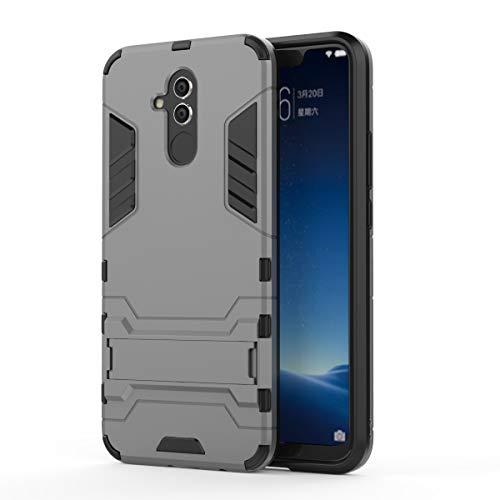 Kompatibel mit Hülle Huawei Mate 20 Lite Ultra Slim PC dünn 360 Degree Super Protective Schutzhülle Kratzfeste Ständer Bumper Handyhülle für Huawei P20 Lite (Huawei Mate 20 Lite, Grau 1)