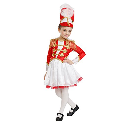 Dress Up America Mädchen Fancy Trommel-Majorette Kostüm Mädchen Fancy Marching Band Trommel Outfit (Kind's Marching Band Kostüm)