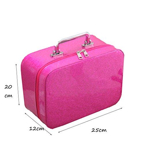 CLOTHES- Sacchetto cosmetico portatile portatile impermeabile multifunzionale portatile della borsa portatile cosmetica portatile Handmade ( Colore : Rose red ) Rose Red