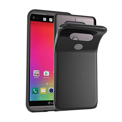 Cadorabo Hülle für LG V20 - Hülle in SCHWARZ – Handyhülle aus TPU Silikon im Ultra Slim 'AIR' Design - Silikonhülle Schutzhülle Soft Back Cover Case Bumper
