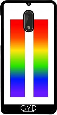 Coque pour Nokia 6 - Rainbow Lgbt Signe égal by