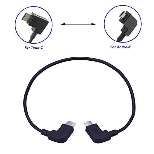 GFULLOV Micro-USB-Kabel, Typ C, OTG, 90 Grad für DJI Mavic Air Funkensender, Steuerung Zwei Arten wählbar (Android zu Typ Cschwarz)
