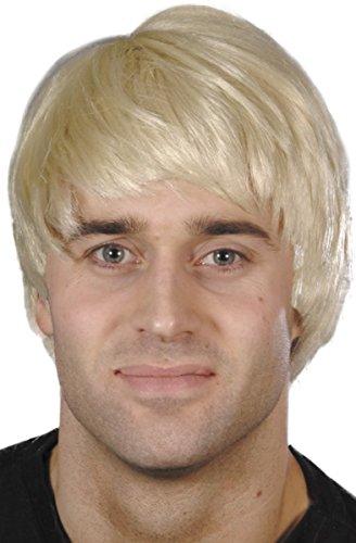 Erwachsene Fancy Kleid Partei Guy Perücke Herren kurzer Schnitt Party mit Kopfbedeckungen sortiert Gr. Einheitsgröße, beige (blonde) (Boxen Kostüm Ebay)