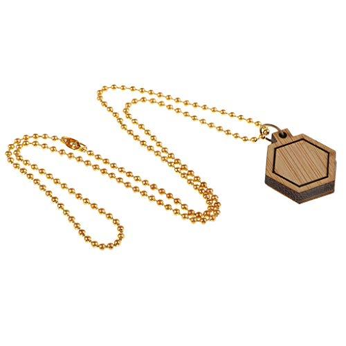 Frame Mini Anhänger (Baoblaze 1 Satz Sechseckform Mini Stickrahmen Holzrahmen Hand Stickerei Stitching Hoop Rahmen DIY Anhänger)