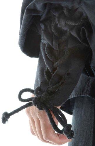 Hemad.De - Chemise De Pirate A Laçage En Pur Coton Et Avec Col - Noir S-Xxxl Noir