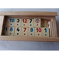 Nuovo grande rummy, gioco di Rummikub con la parte beige, bambini, i viaggi, la strategia, gioco di famiglia, gioco da tavolo in scatola di legno di faggio fatti a mano