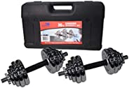 Skyland Unisex Adult Chrome Dumbbell Set Em-9227-30 - Chrome, L 50 X W 30 X 17 cm