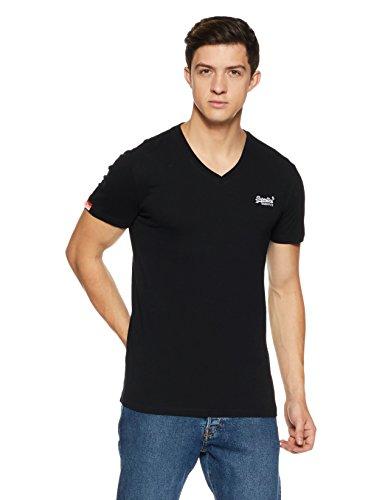 Superdry Herren Orange Label Vntge Emb Vee Tee T-Shirt, Schwarz (Black 02A), X-Large