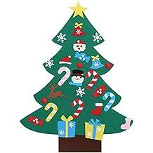 Kesote DIY Árbol de Navidad Decorativo de Fieltro Árbol de Navidad con 26 Accesorios Árbol de