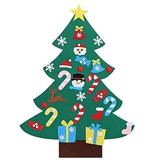 Kesote DIY Árbol de Navidad Decorativo de Fieltro Árbol de Navidad con 26 Accesorios Árbol de Navidad para Colgar Decoraciones de Pared y Puerta