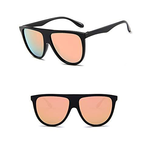 Wang-RX Übergroße quadratische Sonnenbrille Frauen Big One Lens Mans schwarz Sonnenbrille weiblich Uv400