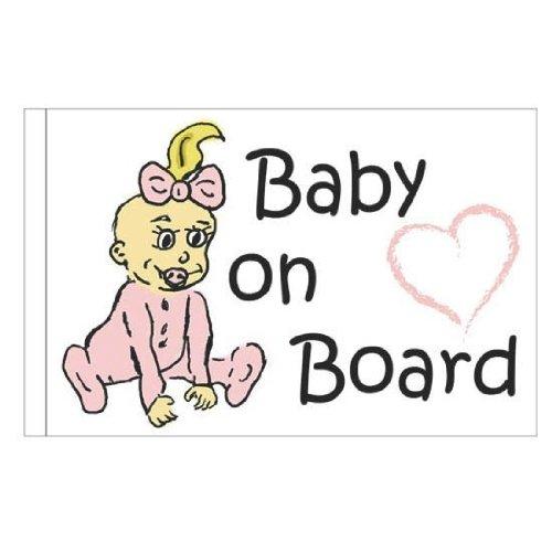 Wedekind 2840 Auto-Fahne Baby an Board Girl