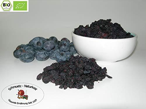 Bio Blaubeeren/Heidelbeeren getrocknet, ungezuckert und ungeschwefelt 250g von Schmütz-Naturkost