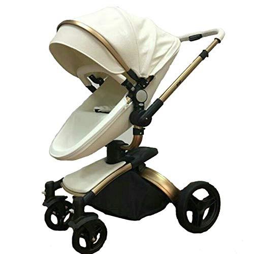 XYUJIE Carrozzina,l\'Alto Ammortizzatore di Paesaggio può Sedersi Passeggino Piegante Bidirezionale del Carrello per Bambini Leggero Reclinabile,02-OneSize