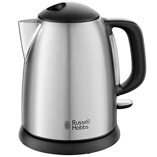 Russell Hobbs 24991-70 Bollitore Compatto Adventure, Capacita 1L, Filtro Anticalcare, 2400W, Acciaio Satinato