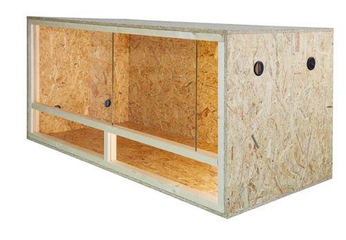 Grande terrario in legno per rettili, per interni, 80x 40x 40cm, con ventilazione laterale, facile da montare
