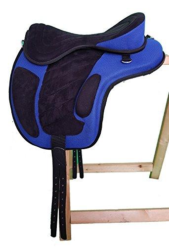 Baumloser Wanderreit Sattel LIBERTY Schwarz/Blau NEU+ Zubehör, Größe:17 Zoll