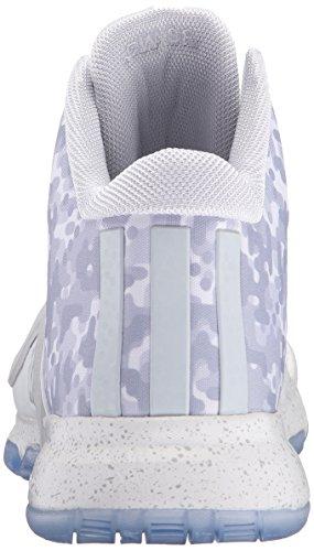 Adidas J Wall 2 scarpe da basket Bianco / Grigio chiaro (5) White/Clear/Grey