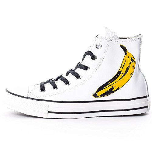 Converse  All Star Prem Hi Warhol Canvas, Baskets pour femme - noir Blanc/jaune