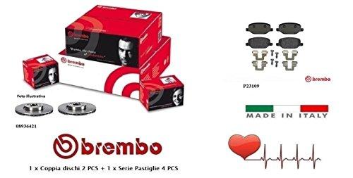 08936421-P23109 Dischi + Pastiglie Freno Posteriori Brembo