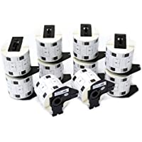 vhbw 10x Etiquetas Cinta adhesiva per Brother P-Touch QL-710, QL-710W, QL-720, QL-720NW por DK-11209.