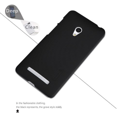 NILLKIN FROST Shield Hard Bumper Back Case Cover, Free Screen Guard For Asus Zenfone C ZC451CG - Black  available at amazon for Rs.325
