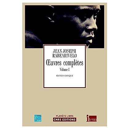 Oeuvres complètes Jean-Joseph Rabearivelo