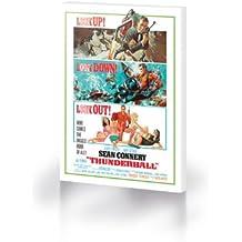 Pyramid International Lienzo con impresión (en inglés, tamaño mediano), diseño de cartel de Operación Trueno de James Bond