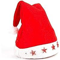 HEJIANGTAO Decoración Infantil para Adultos Estrella de Cinco Puntas iluminada por Gorro de Navidad, Estrella de Cinco Puntas Gorro de Navidad