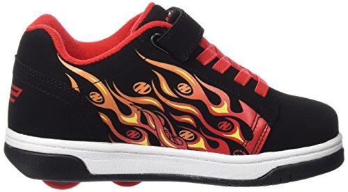Heelys Dual Up 770586, Baskets Basses Garçon multi (Print Black/Flames)