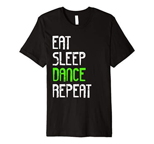 EAT SLEEP DANCE Shirt Hip Hop Damen Herren Mädchen Jungen Kids