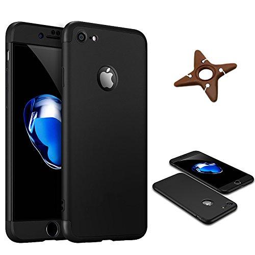 Ultra Slim Thin Custodia per iPhone 7Plus, MAOOY Luxury Hybrid 3in1 Hard PC Plastic Back Case con Utilizzo Completo per iPhone 7 Plus, Antiurto Antipolvere Antigraffio Ultra Protettiva per iPhone 7Plu Black 2