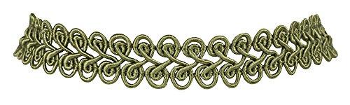 Spitzen Kropfband - Basisband Halskette - Olivgrün