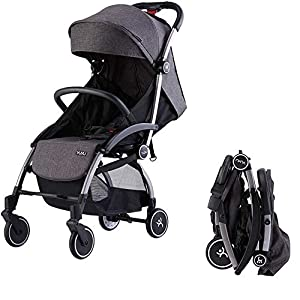 Ydq Foldable Baby Pushchair,Lightweight Baby Pram Pushchair Buggy Travel Stroller Plume   2