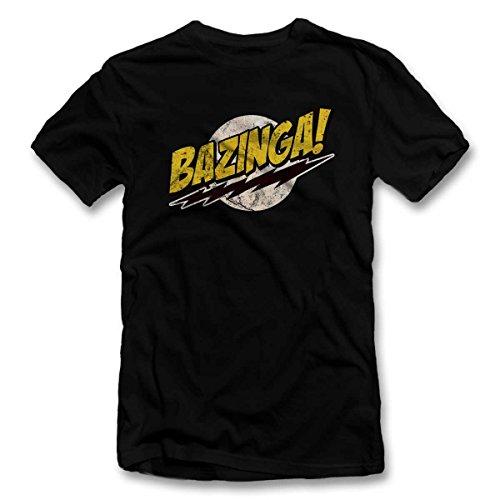Bazinga 03 Vintage T Shirt T-Shirt schwarz-Black L